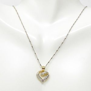 Ross Simons 925 Sterling Silver CZ Heart Necklace